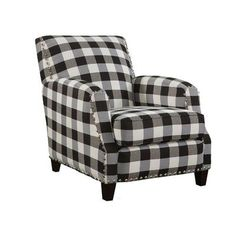 Best Lyndee Buffalo Check Black Chair Cottage Decor In 2019 400 x 300