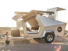 Small Camper Trailers, Teardrop Camper Trailer, Custom Trailers, Rv Trailer, Small Campers, Camping Trailers, One Room Cabins, Mini Caravan, Tesla S
