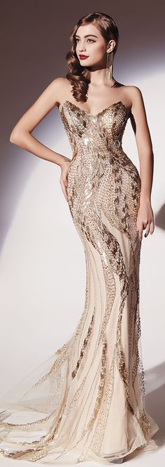 White and Gold Wedding. Gold Bridesmaid Dress. Elegant and Glamorous. Dany Tabet Couture S/S 2014