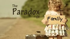 """""""The promise of paradox is the promise that apparent opposites – like order and disorder – can cohere in our lives, the promise that if we replace either-or with both-and, our lives will become larger and more filled with light."""" Parker Palmer - read the entire blog here http://sammytippit.org/the-paradox-of-family/"""
