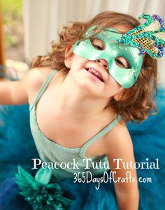 Peacock Tutu Tutorial - DIY Halloween Costume