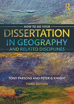 How To Do Your Dissertation in Geography and Related Disciplines by Tony Parsons (2015) Ebook available via our library catalogue https://aleph.glos.ac.uk/F