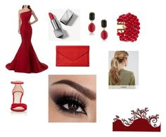 """""""Red Lovers"""" by die-ammy ❤ liked on Polyvore featuring Barneys New York, Burberry, 1st & Gorgeous by Carolee, Chanel, Graphic Image, Kitsch and Prom"""