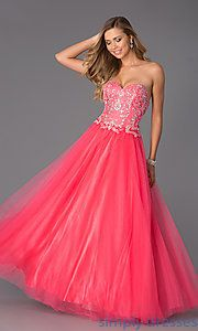 Buy Strapless Sweetheart Floor Length Dress at SimplyDresses