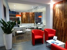 Finium Classik Walnut used to good effect in this travel agency