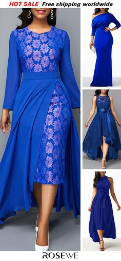 Chiffon Overlay Patterned Lace Panel Royal Blue Dress – What can people do in 30 days African Fashion Dresses, African Dress, Fashion Outfits, Dress Fashion, Royal Blue Dresses, I Dress, Chiffon Dress, Check Dress, Dress Lace