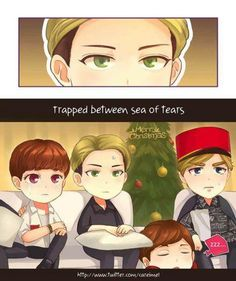 XD i loved Sehun's face, thankyou to whoever drew this, he looked so done and Kris was like sobbing