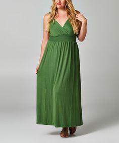 Love this Spring Shirred Maxi Dress - Plus by Christine V on #zulily! #zulilyfinds