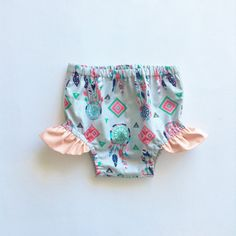 Dreamcatcher Diaper Cover Baby Bloomers Native by moonroomkids