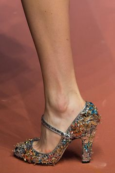 Pin for Later: These Fashion Week Shoes Are More Like Works of Art Dolce & Gabbana Fall 2015