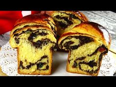Cozonac Moldovenesc cu aluat oparit. - YouTube Brioche Recipe, Romanian Food, Pastry And Bakery, Dessert Recipes, Desserts, Sweet Bread, Bread Recipes, Muffin, Food And Drink