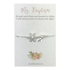 My Baptism CTR Bracelet - Deseret Book Ctr Rings, Lds Books, Baptism Gifts For Girls, Christening Gifts, Flower Bracelet, Place Card Holders, Pure Products, Bracelets, Jewelry