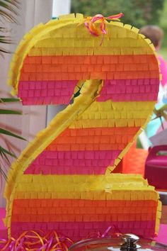Fun pinata at a You Are My Sunshine  birthday party!  See more party planning ideas at CatchMyParty.com!