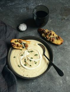 From The Kitchen: Cauliflower Soup with Blue Cheese and Walnut Toasts