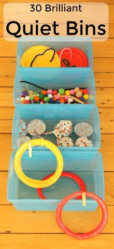 Easy quiet bin ideas for toddler and preschoolers - independent play ideas - preschool activity centers