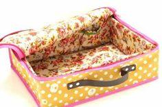 Fabric suitcase inside