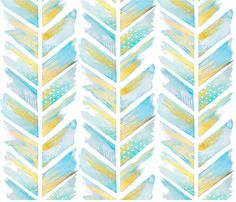 Watercolor-Feather-Chevron-Fabric-by-Emily-Sanford.jpg 473×406 pixels
