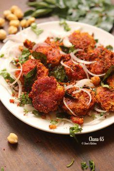 Chana 65 recipe | Crispy Chickpeas 65 recipe Snacks Veg Crispy, Crispy Chickpeas, Snack Recipes, Cooking Recipes, Rice Recipes, Yummy Recipes, Indian Veg Recipes, Ethnic Recipes, Paneer Snacks
