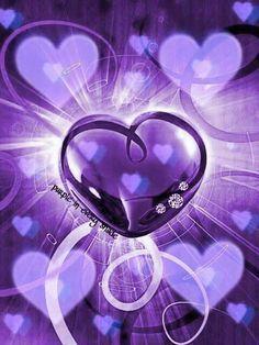 *I love purple The Purple, Purple Art, All Things Purple, Shades Of Purple, Purple Stuff, Heart Wallpaper, Purple Wallpaper, Love Wallpaper, Heart Images