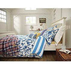 Buy Joules Lulu Floral Duvet Cover, Blue online at JohnLewis.com - John Lewis