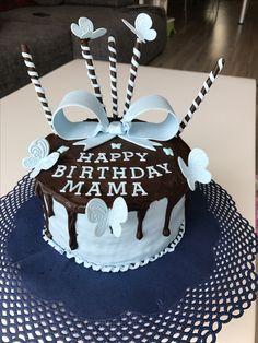 Geburtstagskuchen Schokoladen Ganache mit Fondant