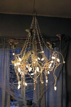lite up your chandelier with lights..
