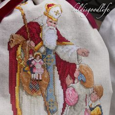 """Patron Saint of Children"" Pattern out of the Book ""Santa Remembered"", by Leisure Arts            Eine Advent- bzw. Weihnachtstradit..."