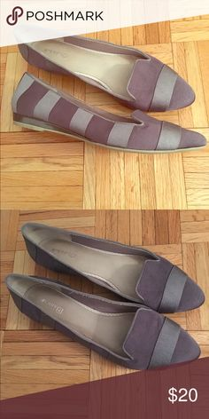Size 12 Sperry flats grey stripes Size 12 Dark gray flats with thick light gray stripes. Worn one time. Sperry Top-Sider Shoes Flats & Loafers