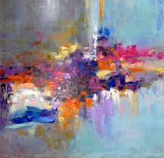painting *А rainbow of emotions* Оil on canvas 80х80cm, Oil painting by Kseniya Kovalenko | Artfinder