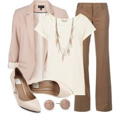 """Teacher, Teacher 130"" by qtpiekelso on Polyvore Can be made more colorful with colorful accessories."