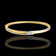 #Bracciale rigido #Trilogy Bipolare #orogiallo    http://it.edenly.com/bracciali-rigidi/bracciale-rigido-trilogy-bipolare-oro-giallo-oro-bianco-24-carati-diamanti,243,18.html