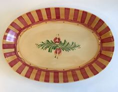Gail Pittman Siena Oval Serving Platter Southern Living At Home Retired Fall #SouthernLivingAtHome