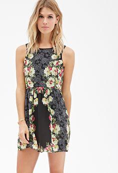 Floral Lace Print Dress | FOREVER21 - 2000117831 love the floral details <3 #forever21