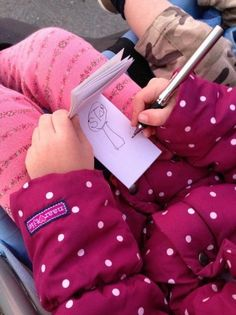 Benefits of your child bringing a notebook on a walk- explore nature, sounds, colors, and more!
