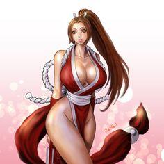 不知火舞  - More at https://pinterest.com/supergirlsart/ #maishiranui #mai #shiranui #kof #king #of #fighters #kingoffighters #ninja #kunoichi #fanart #boobs