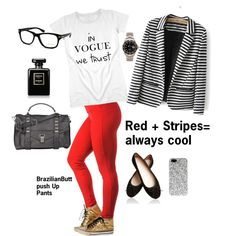 """Red + Stripes= Cool"" by casadelola on Polyvore"