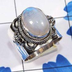 Handmade Rainbow Moonstone Ring, 925 Sterling Silver Rainbow Natural Fire Ring, Handmade Design Rainbow Moonstone Designer Ring