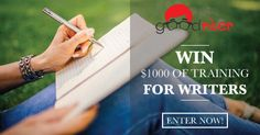 Enter the Goodriter Freelance Writer Bootcamp Giveaway! Use this link http://goodriter.com/giveaways/freelance-writers-bootcamp/?lucky=772 to enter the freelance writer bootcamp.  The url above will provide me an additional entry while just clicking the image gets you an entry and not one for me. Choose wisely ;)  LOL