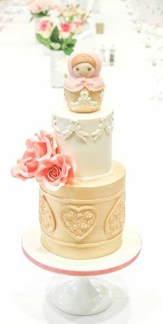 Russian Doll Wedding Cake by AlmaPasteles … http://cakesdecor.com/cakes/102784