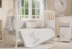 4 Piece Unisex Grey Winnie The Pooh Baby Crib Bedding Cot Set RRP $250 00 | eBay