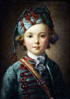 Studio or Circle of Antoine Pesne (1683-1757)  —  Portrait of a Young Boy c.1750 (529x750)