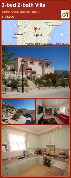 3-bed 2-bath Villa in Sagra, Costa Blanca, Spain ►€195,000 #PropertyForSaleInSpain