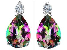Original Star K(tm) Pear Shape 8x6 mm Rainbow Mystic Topaz Earring Studs in 925 Sterling Silver Star K. $49.99. Guaranteed Authentic from the Star K designer line. Star K. Designs are exclusive and protected by Copyright Laws. Save 50% Off!