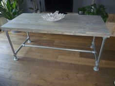 Dinning Room Table with Kee Klamp Base