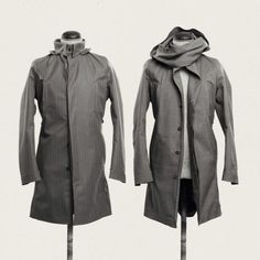 Norwegian Rain Spring/Summer 2014 Another Something Raincoat Outfit, Raincoat Jacket, Norwegian Rain, Make It Rain, Bespoke Tailoring, Raincoats For Women, Drawing Clothes, Tailored Suits, Rain Wear
