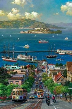 Places To Travel, Places To Visit, Japon Illustration, San Francisco California, California Usa, Anime Scenery Wallpaper, Fantasy Landscape, Beautiful Places, Travel Photography