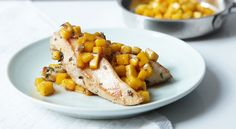 Mango Chicken - Healthy Diet Recipes from Jacqueline Whitehart Healthy Diet Recipes, Healthy Eating Tips, Cooking Recipes, Healthy Eats, Clean Eating, Fat Burning Diet Plan, Mango Chicken, Sweet Potato Chips, No Calorie Foods