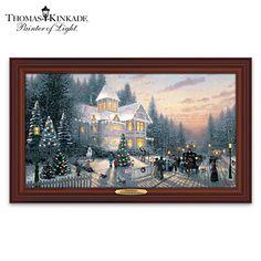 Thomas Kinkade Victorian Christmas Wall Decor 1 OF MY FAVORITES!!