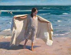 Resultado de imagen para imagenes de pintura chilena  pedro lira Beauty In Art, Human Condition, Coastal, Cover Up, Childhood, Sea, Drawings, Illustration, Painters