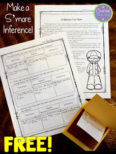 Teaching about making inferences while reading? Check out this anchor chart and FREE inference activity for upper elementary students! This blog post contains a free passage and instructions which will allow your students to make their own s'more inference!